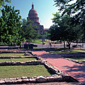 Vintage View Of The Foundation Of The First Texas Capitol That Burned Down In 1836 by Herronstock Prints