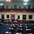 Vintage View Of The Senate Chamber, The Texas Capitol, May 1990 by Herronstock Prints