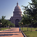Vintage View Of The Texas State Capitol In Downtown Austin, Texas by Herronstock Prints