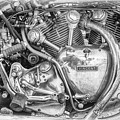 Vintage Vincent Engine by Tim Gainey