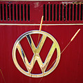 Vintage Vw Bus Logo by Marilyn Hunt