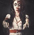 Vintage Walking Dead Horror Nurse by Jorgo Photography - Wall Art Gallery