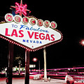 Vintage Welcome To Fabulous Las Vegas Neon Cityscape by Gregory Ballos