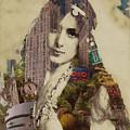 Vintage Woman Built By New York City 1 by Tony Rubino