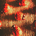 Vintage Wooden Ladybugs by Jorgo Photography - Wall Art Gallery