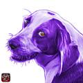 Violet Beagle Dog Art- 6896 -wb by James Ahn