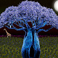 Violet Blue Baobab by Iowan Stone-Flowers