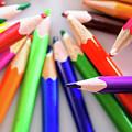 Violet. Colored Pencils by Nicola Simeoni