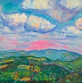 Violet Evening On Rocky Knob by Kendall Kessler