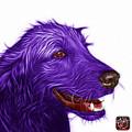 Violet Golden Retriever Dog Art- 5421 - Wb by James Ahn