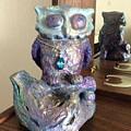 Violet Owl by Marija Kovacevic