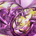 Violet Summer Abstract by Alexander Butler