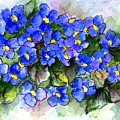 Violets Of Blue by Lila Van Pelt