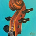 Violin Head by Emily Page