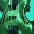 Violin In Green by Emily Page