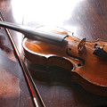 Violin On Table by Steve Somerville