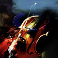 Violin Painting Art 321 by Gull G