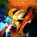 Violin Painting Art 51 by Gull G