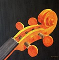 Violin Scroll by Denise Harty