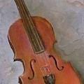 Violin Study by Vickie Shelton