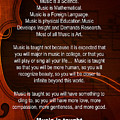 Violin Viola Why Music For T Shirts Or Posters 4831.02b by M K Miller