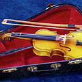 Violin With Bow And Case by Bob Slitzan
