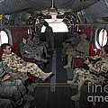 Vips In A Ch-47 Chinook Helicopter by Terry Moore