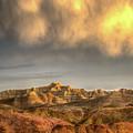 Virga Over The Badlands by Fiskr Larsen