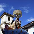 Virgen Del Carmen And Church Tower Paucartambo Peru by James Brunker