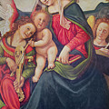 Virgin And Child And Angel Musicians  by Piero di Cosimo