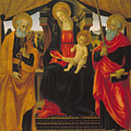 Virgin And Child Between Saint Peter And Saint Paul by Vincenzo Frediani