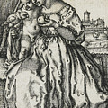 Virgin And Child With A Parrot by Hans Sebald Beham