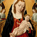 Virgin And Child With Two Angels by Master of the Saint Ursula Legend