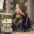 Virgin Mary, From The Annunciation by Leonardo Da Vinci