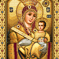 Virgin Mary Of Bethlehem Icon by Stoyanka Ivanova