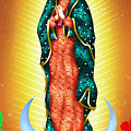 Virgin Of Guadalupe. by Isaac Sanchez
