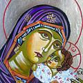 Virgin Of Tenderness Eleusa by Ryszard Sleczka