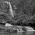 Virgina Falls In The Pool - Black And White by Adam Jewell