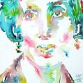 Virginia Woolf Watercolor Portrait by Fabrizio Cassetta