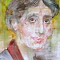 Virginia Woolf - Watercolor Portrait.7 by Fabrizio Cassetta