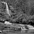 Virgnia Falls Pool - Black And White by Adam Jewell