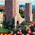 Visby Vintage Travel Poster Restored by Carsten Reisinger