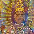 Vishnu Krishna Face by Michael African Visions