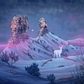 Vision Of The Legend Of White Deer Woman-chimney Rock Colorado by Anastasia Savage Ealy