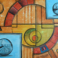 Visions Of Red Wheel by Arkadiusz Kulesza