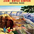 Visit Grand Canyon - Restored by Vintage Advertising Posters