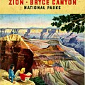 Visit Grand Canyon - Vintgelized by Vintage Advertising Posters