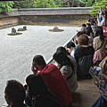 Visitors At A Rock Garden, Kyoto 2014 by Chris Honeyman