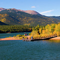 Visitors At Pikes Peak And Crystal Reservoir by Steve Krull