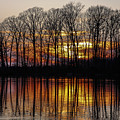 Vivid Sunset On The Lake In Olney by Deb Henman